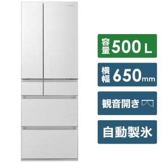 NR-F506HPX-W 冷蔵庫 HPXタイプ アルベロホワイト [6ドア /観音開きタイプ /500L] [冷凍室 119L]《基本設置料金セット》