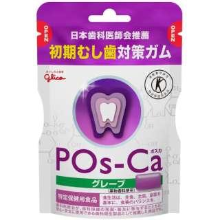 【特定保健用食品(トクホ)】 江崎グリコ ポスカ(POs-Ca) グレープ エコパウチ 75g