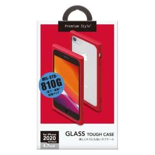 iPhone SE(第2世代) ガラスタフケース レッド PG-20MGT02RD