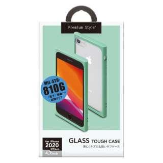 iPhone SE(第2世代) ガラスタフケース ミント PG-20MGT04GR