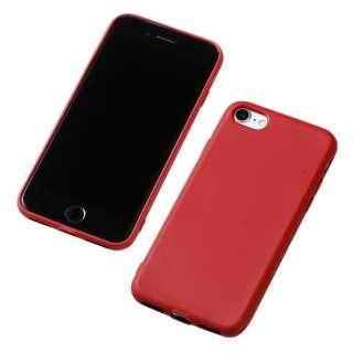 iPhone SE(第2世代)4.7インチ用 シリコンハードケース  CRYTONE レッド DCS-IPS9RD