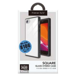 iPhone SE(第2世代) ガラスハイブリッドケース ホワイト PG-20MGT10WH