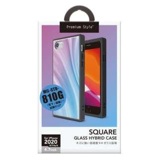 iPhone SE(第2世代) ガラスハイブリッドケース パープル PG-20MGT13PP