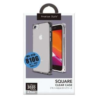 iPhone SE(第2世代) オールTPUケース クリアブラック PG-20MTP02BK