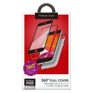 iPhone SE(第2世代) 360度フルカバーケース レッド PG-20MFC04RD