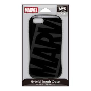 iPhone SE(第2世代) ハイブリッドタフケース ロゴ/ブラック&グレー PG-DPT20M11BK