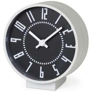 ekikurokku table clock black