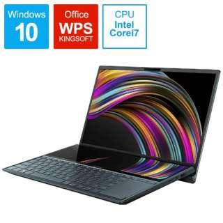 UX481FL-HJ122T ノートパソコン ZenBook Duo セレスティアブルー [14.0型 /intel Core i7 /SSD:1TB /メモリ:16GB /2020年5月モデル]