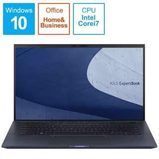 B9450FA-BM0323TS ノートパソコン ExpertBook B9 スターブラック [14.0型 /intel Core i7 /SSD:1TB /メモリ:16GB /2020年5月モデル]