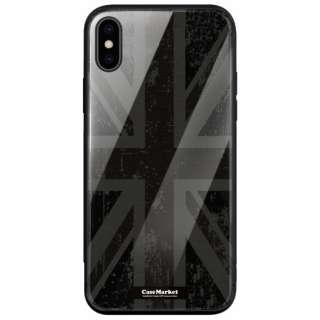 CaseMarket 背面強化ガラス 背面ケース apple iPhone XS (iPhoneXS) ユニオンジャック デザイン 0043 ジェット ブラック iPhoneXS-BCM2G0043-78