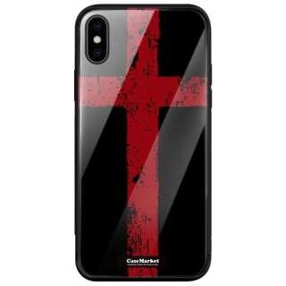 CaseMarket 背面強化ガラス 背面ケース apple iPhone 8 Plus (iPhone8p) イングランド フラッグ 0079 ブラック iPhone8p-BCM2G0079-78
