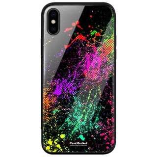 CaseMarket 背面強化ガラス 背面ケース apple iPhone XS (iPhoneXS) グラフィック クレイジー ペイント アート 2037 iPhoneXS-BCM2G2037-78