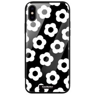 CaseMarket 背面強化ガラス 背面ケース apple iPhone 7 Plus (iPhone7p) モノトーン デイジー クラシック 2080 iPhone7p-BCM2G2080-78