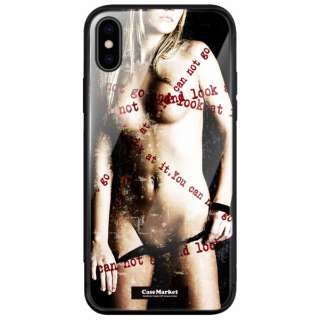 CaseMarket 背面強化ガラス 背面ケース apple iPhone 7 Plus (iPhone7p) レディー ヌード アメリカン セクシー ロックンロール 2122 キュート カラー iPhone7p-BCM2G2122-78