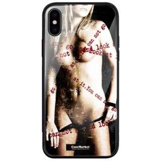 CaseMarket 背面強化ガラス 背面ケース apple iPhone XS (iPhoneXS) レディー ヌード アメリカン セクシー ロックンロール 2122 キュート カラー iPhoneXS-BCM2G2122-78