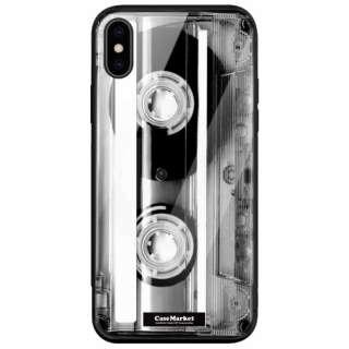 CaseMarket 背面強化ガラス 背面ケース apple iPhone XS Max (iPhoneXSMax) Mono Cassette Tape スリム ダイアリー 2214 カセットテープ iPhoneXSMax-BCM2G2214-78