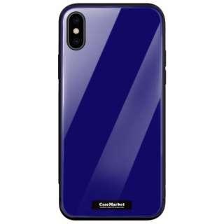 CaseMarket 背面強化ガラス 背面ケース apple iPhone 8 Plus (iPhone8p) スタンダード カラー チャート パレット 2894 ネイビー iPhone8p-BCM2G2894-78