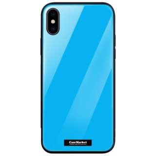 CaseMarket 背面強化ガラス 背面ケース apple iPhone 7 Plus (iPhone7p) スタンダード カラー チャート パレット 2895 シアンブルー iPhone7p-BCM2G2895-78