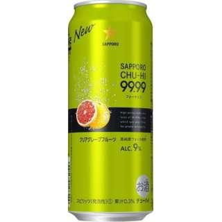 99.99(フォーナイン) クリアグレープフルーツ 500ml 24本【缶チューハイ】