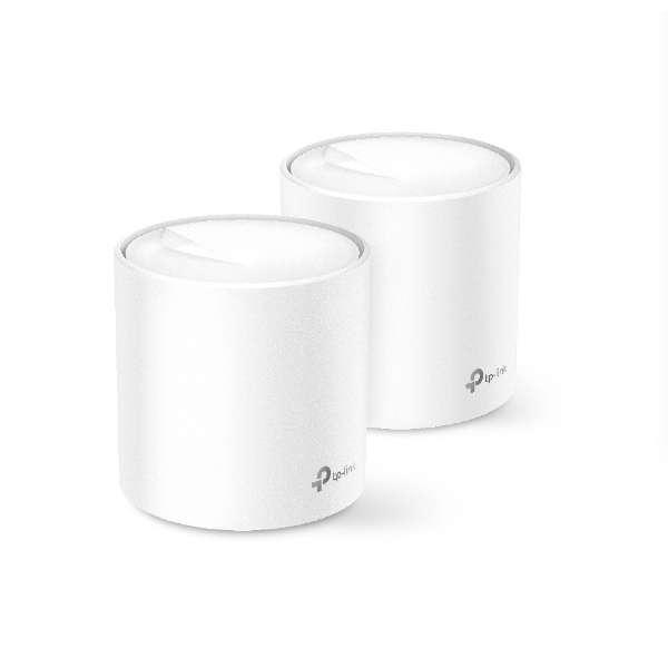 Wi-Fiルーター Deco X20(2パック)1201+574Mbps AX1800 [ac/n/a/g/b]