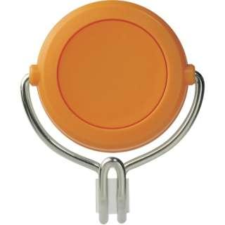 緑十字 強力マグネットフック(可動式フックタイプ) 橙 48×58mm 耐荷重3kg 313015