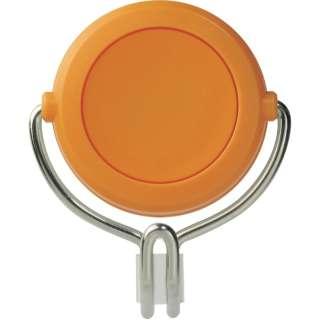 緑十字 強力マグネットフック(可動式フックタイプ) 橙 60×70mm 耐荷重7kg 313018