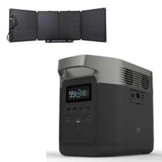 ポータブル電源 EFDELTA1300-JP+110Wソーラーチャージャー1台セット
