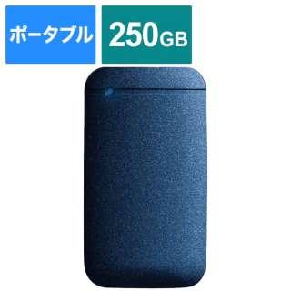ESD-EF0250GNVR 外付けSSD USB-C+USB-A接続 PS4対応 ネイビー [ポータブル型 /250GB]