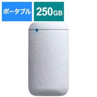 ESD-EF0250GSVR 外付けSSD USB-C+USB-A接続 PS4対応 シルバー [ポータブル型 /250GB]