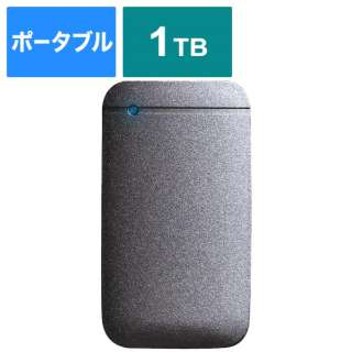 ESD-EF1000GBKR 外付けSSD USB-C+USB-A接続 (PS4対応) ブラック [1TB /ポータブル型]