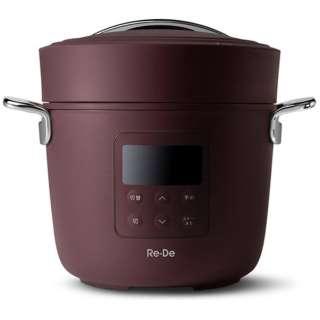 Re・De Pot 電気圧力鍋(2L) Re De Pot レッド PCH-20LR