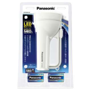 乾電池エボルタNEO付き ワイドパワーLED強力ライト BF-BS02K-W