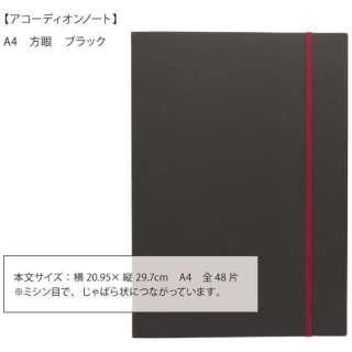 accordion noteA4方眼ブラック 351338
