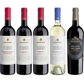 イタリア最大規模のワイナリー 『ゾーニン』飲み比べセット 750ml 5本【ワインセット】