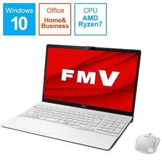 FMVA76E1WB ノートパソコン FMV LIFEBOOK AH76/E1 プレミアムホワイト [15.6型 /AMD Ryzen 7 /SSD:512GB /メモリ:8GB /2020年6月モデル]