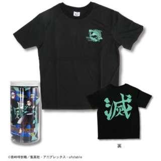 鬼滅の刃 ボトル入り Tシャツ C柄 黒(Mサイズ)