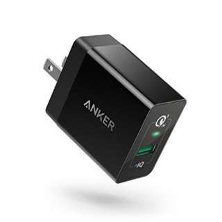 【改善版】Anker PowerPort+ 1 (18W USB急速充電器) ブラック A2013117 [1ポート /Quick Charge対応]