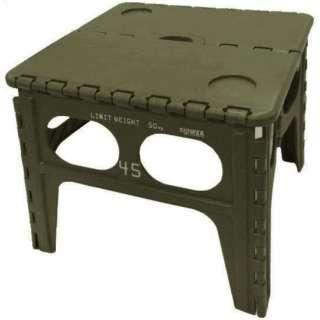 折りたたみ式 フォールディングテーブル Chepel FOLDING TABLE(480x400x490mm/オリーブ) SLW-127
