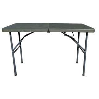 アウトドア 折りたたみテーブル FOLDING TABLE(1220x600x740mm/オリーブ) SLW-212