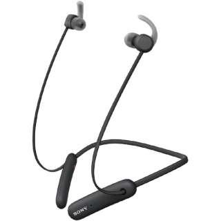 ブルートゥースイヤホン カナル型 ブラック WI-SP510BZ [リモコン・マイク対応 /ワイヤレス(ネックバンド) /Bluetooth]