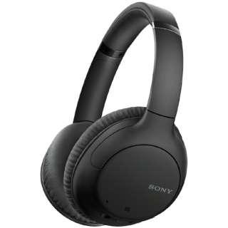 ブルートゥースヘッドホン ブラック WH-CH710N BZ [リモコン・マイク対応 /Bluetooth /ノイズキャンセリング対応]