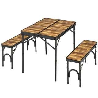 テーブル&ベンチセット(約940×375×112mm/木目) BD-230WB
