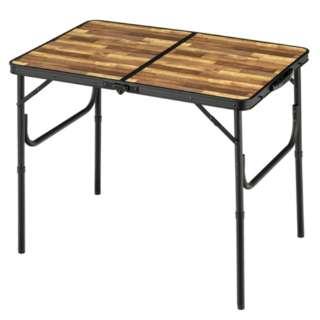 アルミFDテーブル S(約905×600×705mm/木目) BD-243WB
