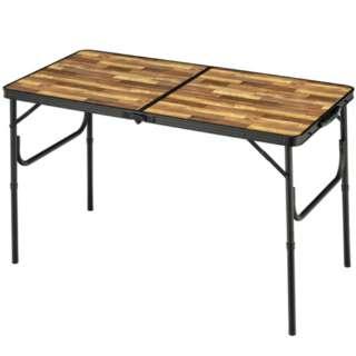 アルミFDテーブル M(約1200×600×705mm/木目) BD-244WB