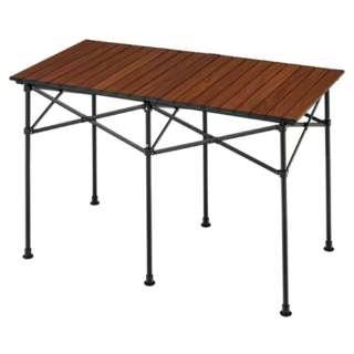 アルミロールテーブル115(約1150×600×705mm/木目) BD-193WB