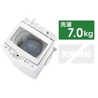 全自動洗濯機 GVシリーズ ホワイト AQW-GV70J-W [洗濯7.0kg /乾燥機能無 /上開き]