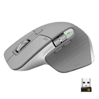 マウス+ノートブック MX Master 3 ミッドグレイ MX2200sMG-GBX [レーザー /無線(ワイヤレス) /7ボタン /Bluetooth・USB]