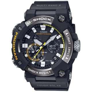 【Bluetooth搭載ソーラー電波時計】G-SHOCK(Gショック)MASTER OF G(マスターオブG)FROGMAN アナログ表示モデル GWF-A1000-1AJF