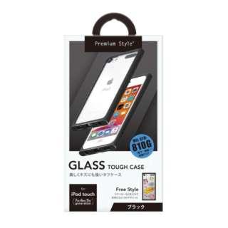 iPod touch第7世代用 ガラスタフケース Premium Style ブラック PG-IT7GT01BK [iPod touch用]