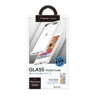 iPod touch第7世代用 ガラスタフケース Premium Style ホワイト PG-IT7GT02WH [iPod touch用]
